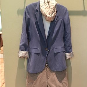 Blue Banana Republic Blazer and Grey Shorts